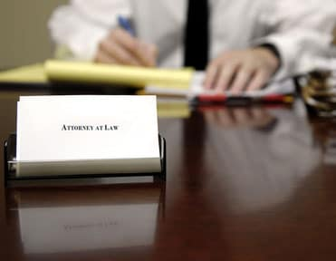 Attorney's desk with Attorney